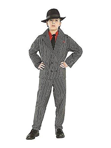 Gangster Kostüm Kind - 20er Jahre Gangster Kostüm Kinder Fasching Karneval Verkleidung Jungen Large - 142-152cm
