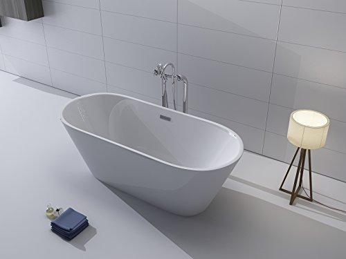 Lujo bañera independiente 170x 80+ acrílico bañera (Incluye desagüe y rebosadero Whirlpool, ducha, cuarto de baño)–Acción especial.