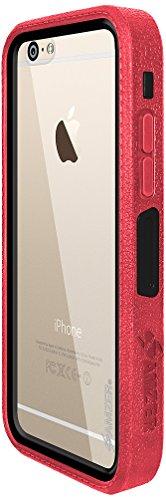 Amzer Crusta edge2edge Shell Housse Coque Étui robuste avec verre trempé et clip ceinture pour iPhone 6Or/Argent _ P Black/Gold/Red/Silver