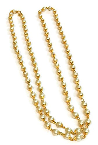 Divinique Jewelry Chain Neck Designer 30 inch.Branded PEARL HANDMADE REAL LOOK ORIGINAL DESIGN