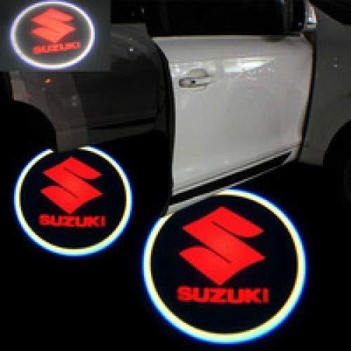 Aokairuisi Kit Luci Logo Suzuki Proiettore sottoporta LED CREE Cortesia 5W 12V Universale