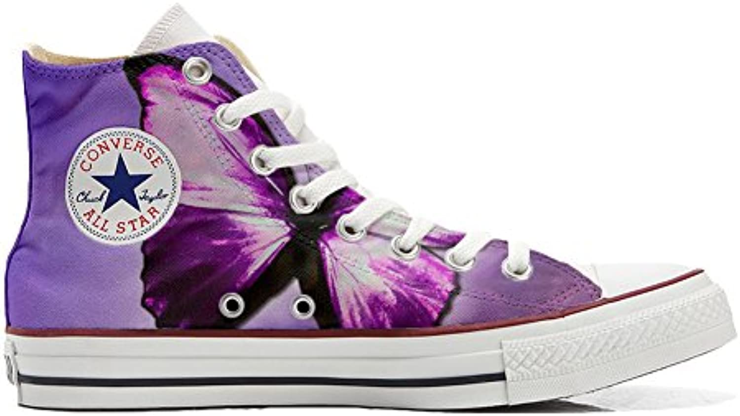 Converse All Star Customized - Zapatos Personalizados (Producto Artesano) Farfalla Butterfly  -