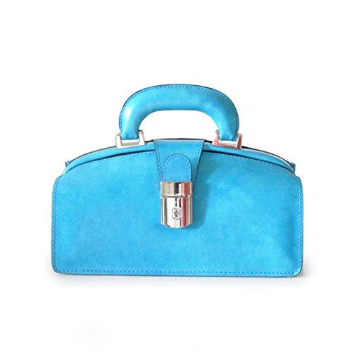 Pratesi Lady Brunelleschi Sac pour femme - R120/N Radica (Bleu électrique) Bleu ciel