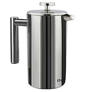 homdox kaffeebereiter kaffeekanne french press system aus edelstahl 1 0 l schwarz. Black Bedroom Furniture Sets. Home Design Ideas