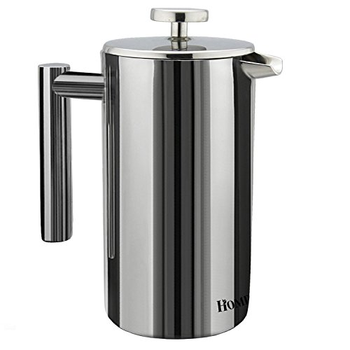 Homdox French Press Caffettiera a Pistone in Acciaio Inox