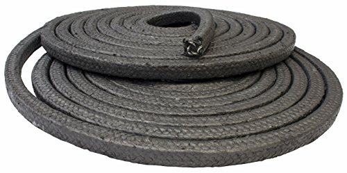 "Price comparison product image Gland packing rope 3mm (1 / 8"") square - glass fibre & graphite braided - sold per metre"