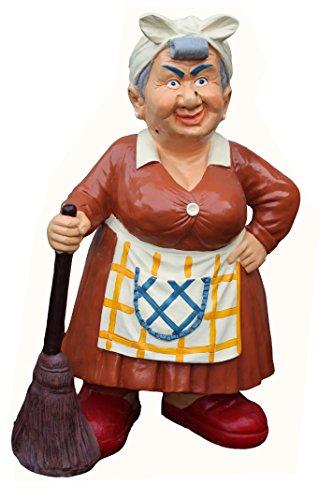 derrys A1201 Old Woman avec balai Résine Figure/Statue – Multicolore