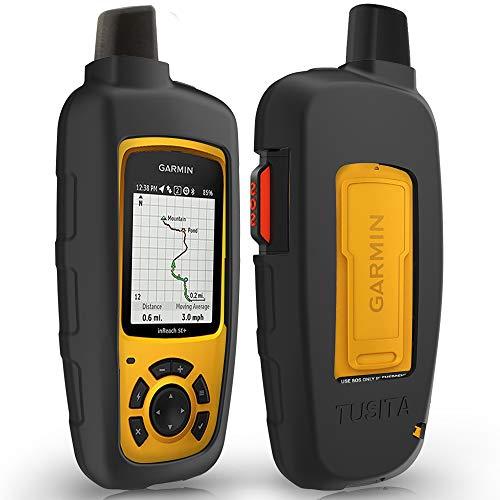 TUSITA Hülle für Garmin inReach SE+,inReach Explorer Plus - Silikon Schutzhülle Case Cover - Outdoor GPS Navigator Zubehör