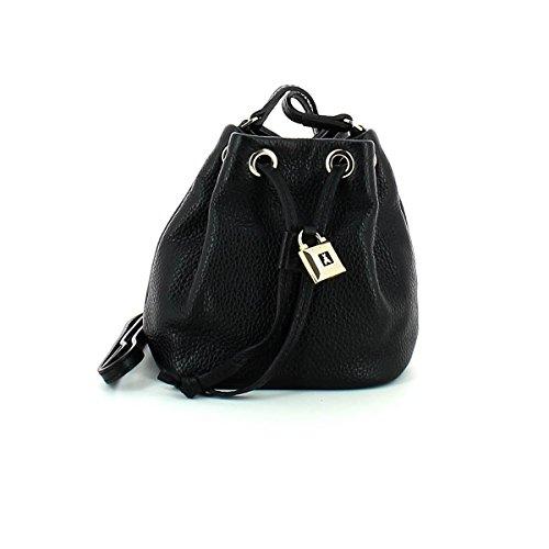Patrizia Pepe Lock Fly Mini Bag Beuteltasche Leder 15 cm nero