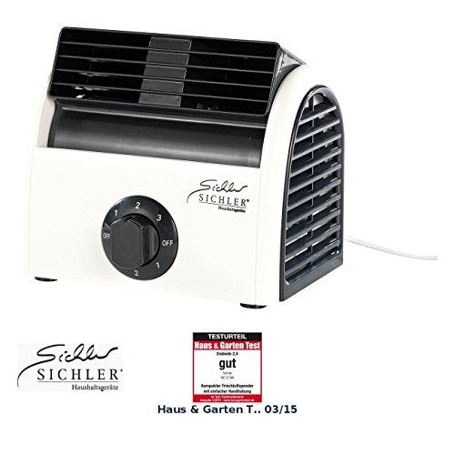 Sichler Haushaltsgeräte Tischventilator: Leistungsstarker High-Power-Walzen-Tisch-Ventilator VT-113.T, 30 Watt (Walzenlüfter)