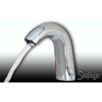 Design Wasserhahn Infrarot IR Automatik Waschbecken Chrome Sanlingo