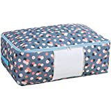 House of Quirk Handy Storage Bag Heavy Duty Travel Luggage Caddy Organizer Laundry Bags Duffel Space Saver with Web Handles for Quilt Beddings Blanket (Large Size)