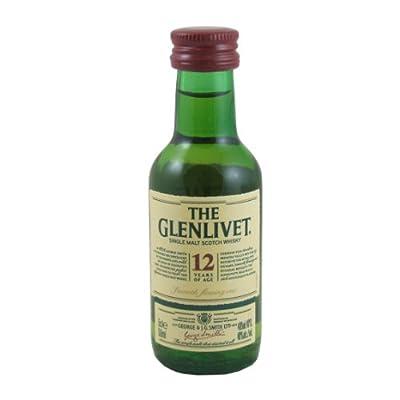 Glenlivet 12 year old Single Malt Whisky 5cl Miniature from Glenlivet