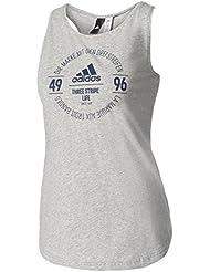 adidas Logo T Camiseta, Mujer, Gris (Brgrin), M