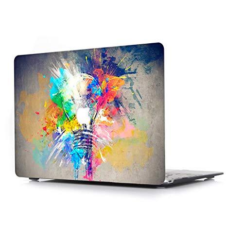 L2W Hülle für Apple MacBook Pro Neu 15 Zoll (Retina Display) mit Touch Bar Modell A1990/A1707 Plastik Laptop Computer Zubehör Bundle Kreativ Design Schutzhülle Tasche Muster Cover Die Glühbirne (Apple 15 Neu Laptop)