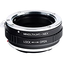 Adaptador Minolta(AF)-NEX - Beschoi Adaptador Cámara de Lente Adaptador para objetivo para Montar la Lente Minolta(AF) al cuerpo de la Cámara Sony NEX