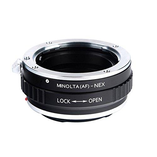Beschoi Minolta AF-NEX Objektivadapter, Objektiv Adapterring für Minolta AF Objektiv auf Sony NEX E-Mount Kamera (Minolta-kamera-objektiv)