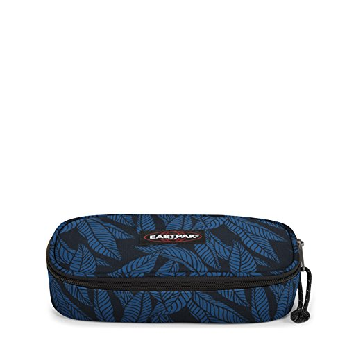 Eastpak Oval Single Trousse, 22 cm, Bleu (Leaves Blue)