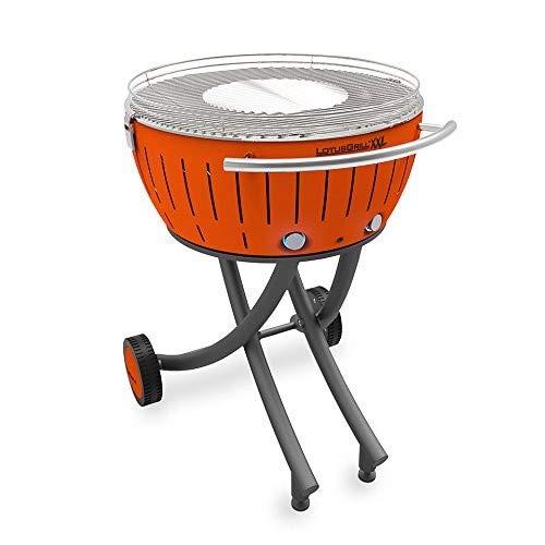 LotusGrill LG-OR-600 Barbecue a carbonella da Esterno Arancione, Mandarinenorange, XXL, 78x78x48 cm