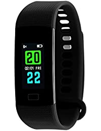 TIMEWEAR Fitness Tracker Smart Black Band-Colored Display-Heart Rate-Calorie Burned-Step Count-Sleep-Monitor-Unisex...