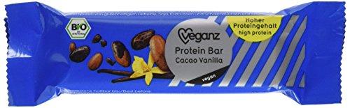 Veganz Bio Protein Bar Cacao Vanilla, 6er Pack (6 x 45 g) (45g Protein)