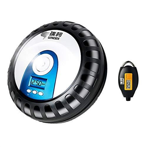 Xb Gonfiatore di Pneumatici Digitale 12V, compressore d'Aria con Arresto Automatico, Pompa per Pneumatici del compressore d'Aria, adattatori per valvole, Pompa del compressore d'Aria Portatile