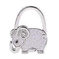 Fogun Table Foldable Purse Bag Rhinestone Elephant Hanger Handbag Hook Holder Gifts