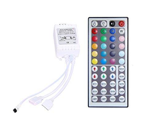 XKTTSUEERCRR 44 Key 2-Kanal IR Fernbedienung & Mini Controller für RGB LED Strips (SMD 3528 5050)