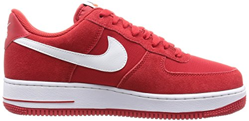 Nike Air Force 1, espadrilles de basket-ball homme Rojo (Game Red / White)