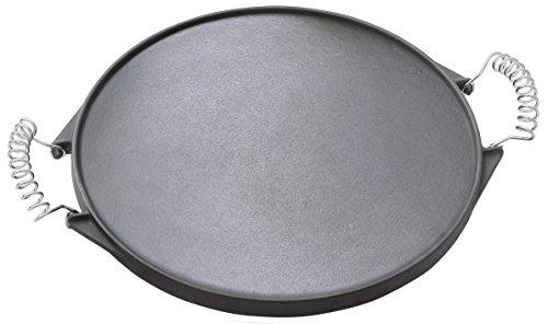 41kiq8DGPSL - Outdoorchef Gusseisen Grillplatte 420 - Grill-Wende-Platte - Gasgrill Zubehör für Kugelgrill - Grillpfanne doppelseitig verwendbar - Ø 33 cm