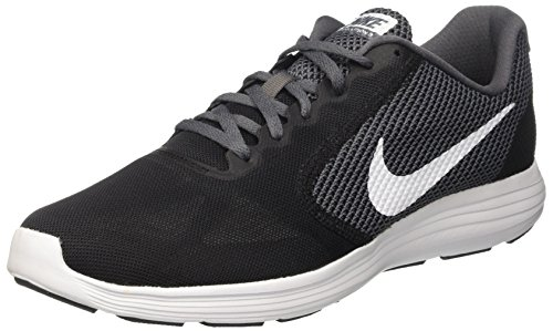 Nike Revolution 3, Chaussures de Running homme, Multicolore (Black/white/dark Grey/anthracite), 47 EU