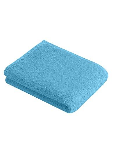 Vossen Gästetuch | Handtuch | Duschtuch | Badetuch | Saunatuch | Bestickt mit Name oder Text Wunschstickerei (SkyBlue (Farbton: Blau), Duschtuch 67 x 140 cm)