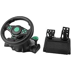 180degrés de Rotation Jeu Vibrations Racing Volant Pédales Xbox 360PS2PS3PC USB Volant de Voiture