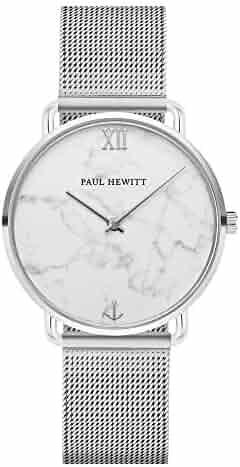 Paul Hewitt Women's Watch Miss Ocean Marble – Stainless Steel Women's Watch (Silver), Dial in Marble Style., Bracelet