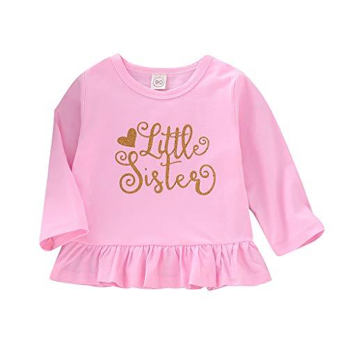 Saingace(TM) Babybekleidung Mädchen Kleid,Baby Kind Mädchen Kleinkind Geschwister Langarm Brief Party Prinzessin Kleider Kleidung