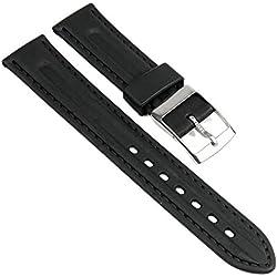 CEM Replacement Watch Strap Kautschuk Band black 20mm CEM 920UM-08-B-741933