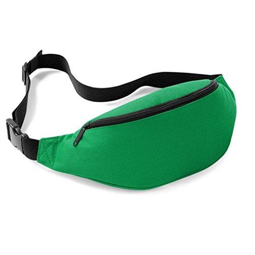 FEITONG Unisex Outdoor Oxford Sports Laufen Hüfttasche Reisen Handlich Wandern Gürteltasche Gürtel Tasche Beutel 2 liters (Blau) Grün