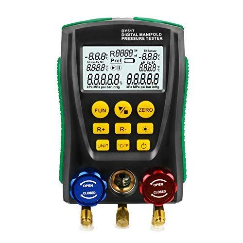 Medidor digital de manómetro para refrigeración, HVAC, prueba de fugas de temperatura...