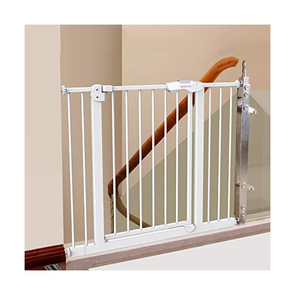 Baby child safety gate bar baby stairway fence pet fence dog fence pole isolation door(74-84cm) AA-SS-Safety Door ✿Adaptable :Convenient walk through design with safety locking feature. ✿Easy one-hand open handle:The gates convenient design allows adults to walk through by simply sliding the safety lock back and lifting. ✿Easy to use: Pressure mount design that is quick to set up. No tools required and is gentle on walls. 1