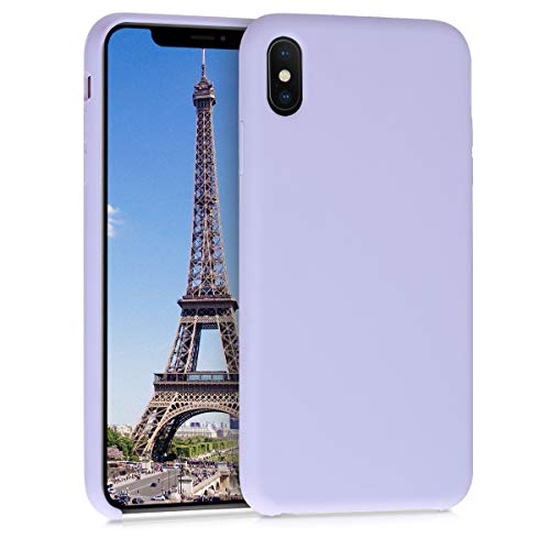 kwmobile Apple iPhone XS Max Hülle - Handyhülle für Apple iPhone XS Max - Handy Case in Pastell Lavendel
