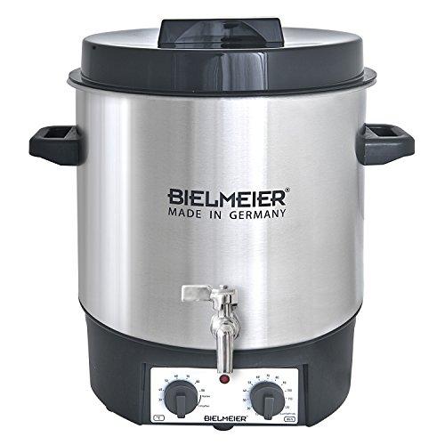 Bielmeier 495200 Einkoch und Glühwein-Vollautomat, 27 L, 38 Zoll Edelstahl-Auslaufhahn, 1800 W, BHG 495.2