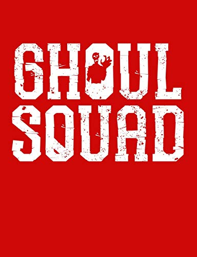 Ghoul Squad Graph Composition Notebook: Engineering Paper 5X5 Squares per Inch Grid Graph (7.44 X 9.69) Creepy Spirit Phantom Grave Digger Book Red - Cool Ghoul, Ghost
