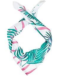 HALLHUBER Velour scarf with fern print