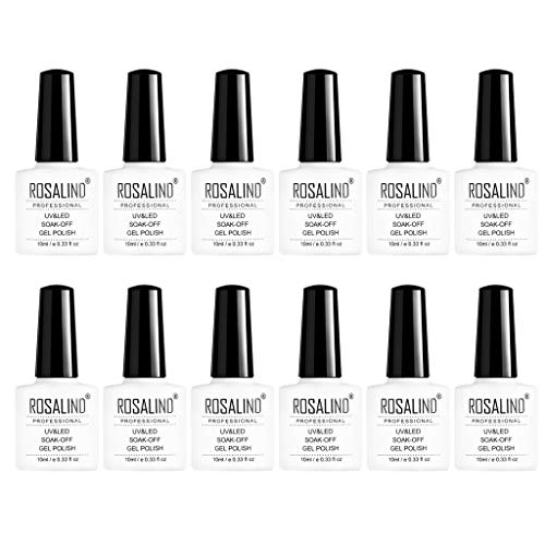 SMILEQ Nail Art Glue Colorful 12 Botellas Esmalte