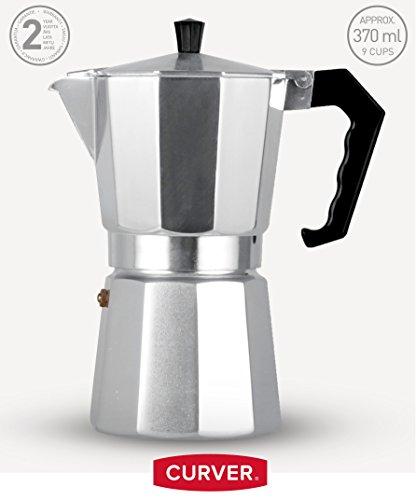 Curver Espressokocher 9 Tassen Aluminium espresso maker (SILBER)