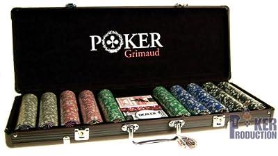Mallette noire Poker Grimaud : 500 jetons