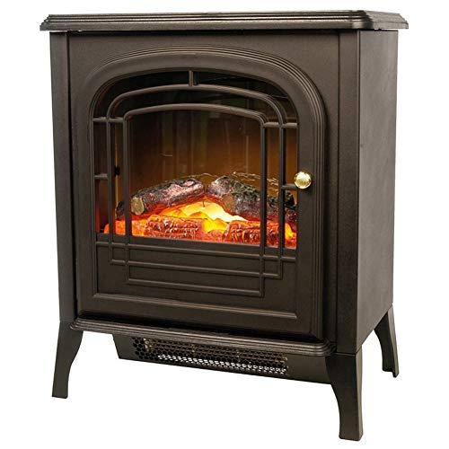 Bakaji chimenea estufa electrica Mini con efecto Fuego A LED potencia 1800W chimenea con puerta Desmontable...