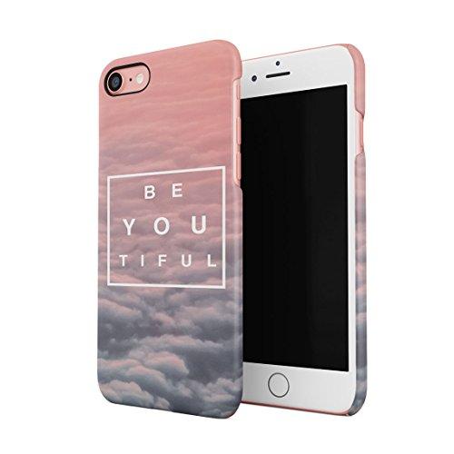Beautiful Cute Be Youtiful PClouds Tumblr Dünne Rückschale aus Hartplastik für iPhone 7 & iPhone 8 Handy Hülle Schutzhülle Slim Fit Case Cover