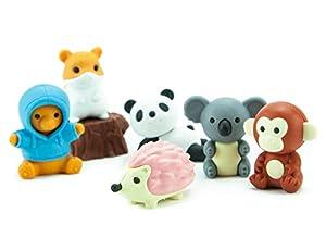 Ty Iwako Eraserz - Set de Figuras de Animales del Bosque