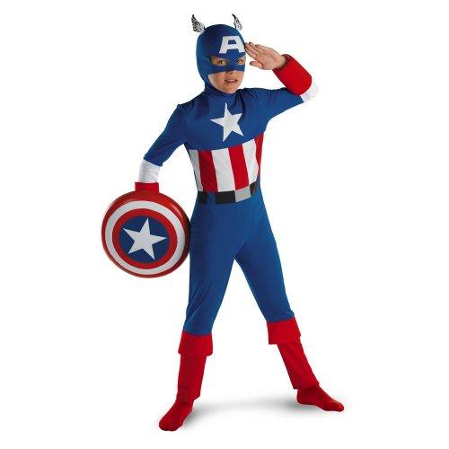 Disguise 177435 Captain America Klassische Kinderkost-m